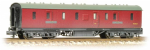 374-887 Farish LMS 50ft Full Brake BRV Crimson (Weathered)